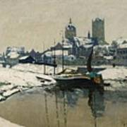 A View Of Neuss In Winter Poster