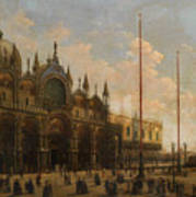 A View Of St. Mark's Basilica Poster