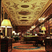A View Of The Chatsworth House Library, England Poster