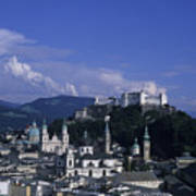 A View Of The City Of Salzburg From An Poster by Taylor S. Kennedy