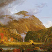 A View Of The Mountain Pass Called The Notch Of The White Mountains Poster by Thomas Cole