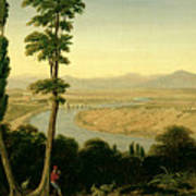 A View Of The Tiber And The Roman Campagna From Monte Mario Poster
