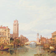 A View Of Verona Poster by George Clarkson Stanfield