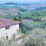 A Villa In Tuscany Poster