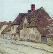 A Village Street Kent Poster by Helen Allingham