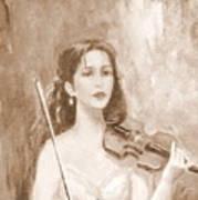 A Violin Girl Poster