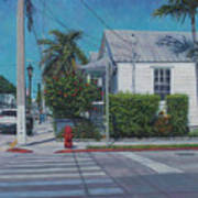 A Walk In Key West Poster