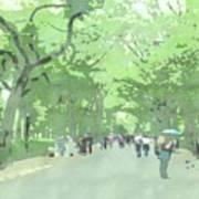 A Walk Through Central Park Poster