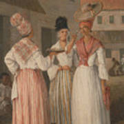 A West Indian Flower Girl And Two Other Free Women Of Color Poster