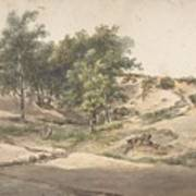 A Wooded Landscape Near Beekhuizen Poster