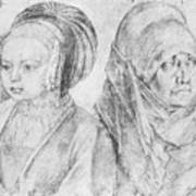 A Young Girl Of Cologne And Dbcrer Wife 1520 Poster