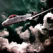 A10 Thunderbolt In Flight Poster