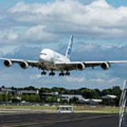A380 Airbus Plane Landing Poster