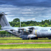 A400m Airbus Prop Blur Poster