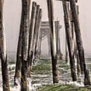 Abandon Pier Thru The Fog Poster