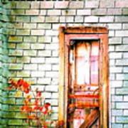 Abandonded Farm Door Poster
