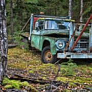 Abandoned Alaskan Logging Truck Poster