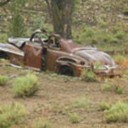 Abandoned Antique Car Poster