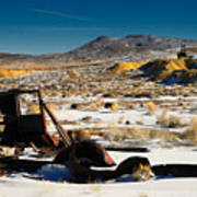 Abandoned Car Near Goldfield Poster
