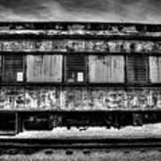 Abandoned Circus Transport Car Poster