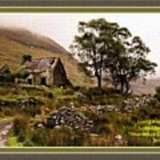 Abandoned Cottage - Scotland H A With Decorative Ornate Printed Frame Poster