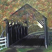 Abandoned Covered Bridge  Poster