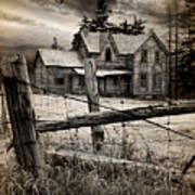 Abandoned Farm House Poster