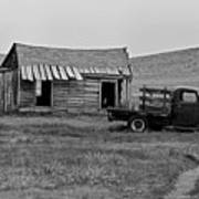 Abandoned Ford Truck And Shed Poster