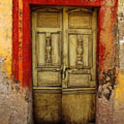 Abandoned Green Door 1 Poster by Mexicolors Art Photography
