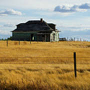 Abandoned Homestead Saskatchewan Poster