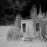 Abandoned In The Field Black And White Poster
