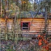 Abandoned Log Cabin Poster