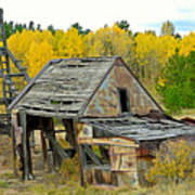 Abandoned Mine In Autumn Poster