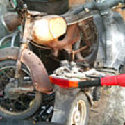 Abandoned Motorbike  Poster
