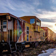 Abandoned Railcar Poster