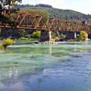 Abandoned Railroad Bridge Poster