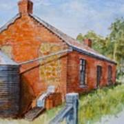 Abandoned Red Brick Cottage Near Maldon Poster
