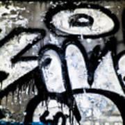 Abandoned Train Car Graffiti Ir Poster