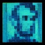 Abe In Aqua Poster