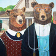 Abearican Gothic Poster