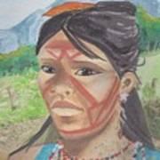 Mujer Indigena Poster