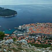 Above Dubrovnik - Croatia Poster
