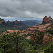 Above The Red Rocks Of Sedona  Poster