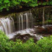 Above The Sgwd Isaf Clun-gwyn Waterfall Poster