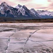 Abraham Lake Ice Sheets Poster
