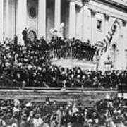 Abraham Lincoln Gives His Second Inaugural Address - March 4 1865 Poster