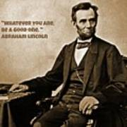 Abraham Lincoln Quote Five Poster