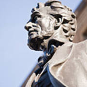 Abraham Lincoln Statue Profile Poster