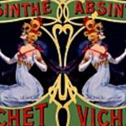 Absinthe Lady Ad Poster