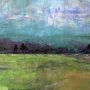 Abstract Aqua Sky Landscape Poster
